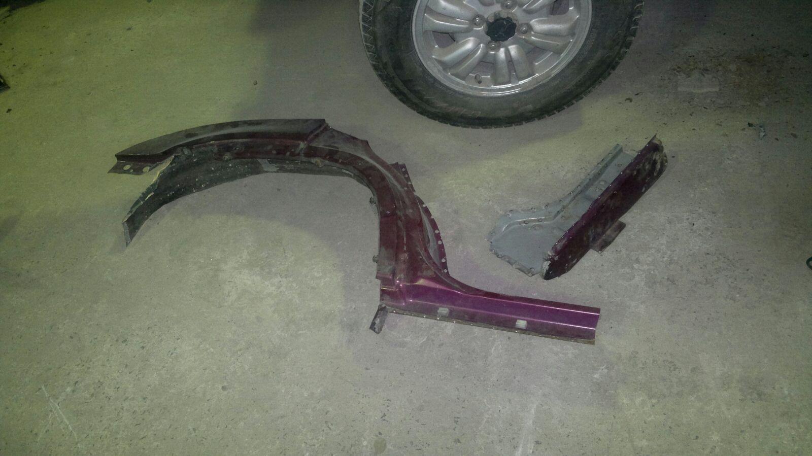 ремонт крыла арки своими руками